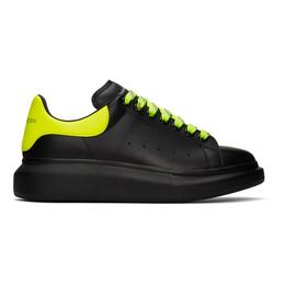 Alexander McQueen SSENSE Exclusive Black and Yellow Oversized Sneakers 553680 WHXM5