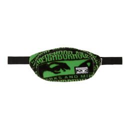 Perks And Mini Black and Green Neighborhood Edition Belt Bag 192MYPMN-CG01S