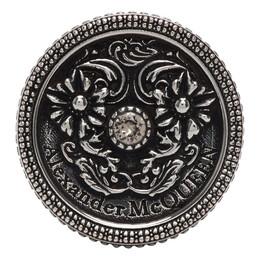 Alexander McQueen Silver Medallion Ring 611290I94VY