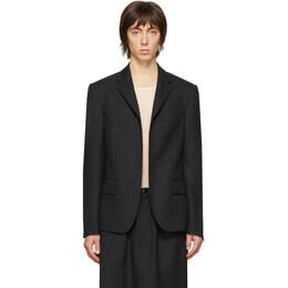 Random Identities Black Buttonless Blazer T-07