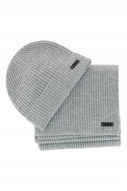 Комплект из светло-серой шапки и шарфа Strellson 585184929