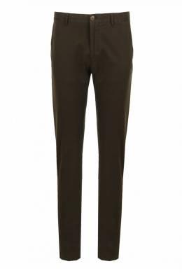 Коричневые брюки из хлопка Strellson 585184890