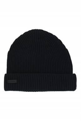 Черная шапка фактурной вязки Strellson 585184935