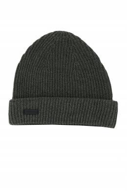 Серая шапка фактурной вязки Strellson 585184934