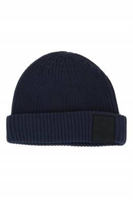 Синяя шапка с нашивкой с логотипом Strellson 585184936
