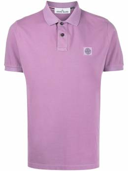 Stone Island Compass logo patch polo shirt MO721522S67