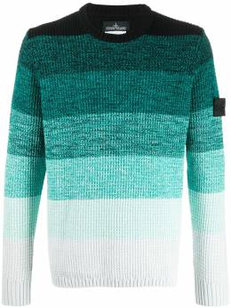 Stone Island Shadow Project gradient effect chunky knit jumper MO7219507A4