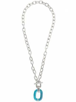 Paco Rabanne long chunky chain necklace 20PBB0088MET078