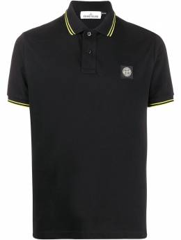 Stone Island short sleeve logo patch polo shirt MO101522S18