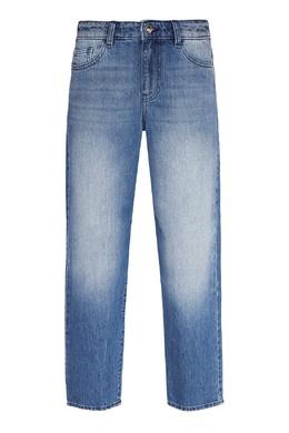 Синие джинсы с потертостями Emporio Armani 2706185030