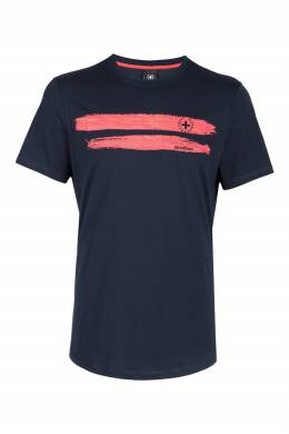 Темно-синяя футболка с принтом Strellson 585184816