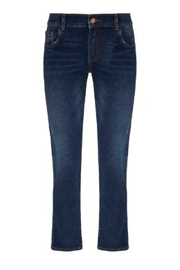 Укороченные синие джинсы стретч Emporio Armani 2706185033