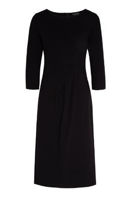 Черное платье миди с рукавом ½ Emporio Armani 2706185036