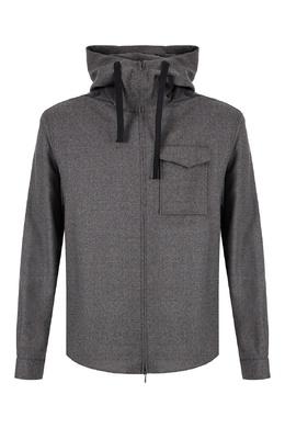 Серая рубашка из шерстяной ткани Emporio Armani 2706184100