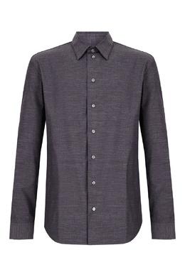 Серая рубашка из хлопка Emporio Armani 2706184102