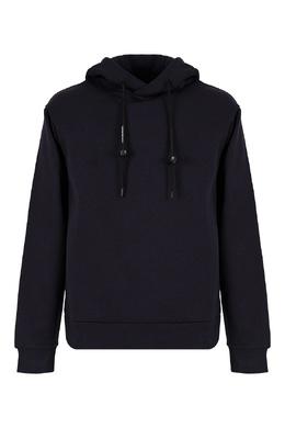 Темно-синее худи с капюшоном Emporio Armani 2706184103