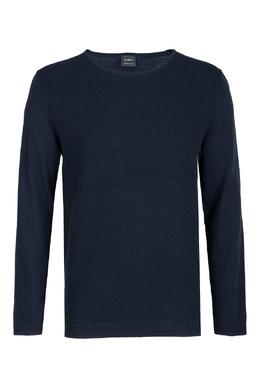Темно-синий свитшот из смесовой ткани Strellson 585184848