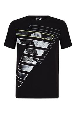 Черная футболка с цифрой 7 Emporio Armani 2706184088