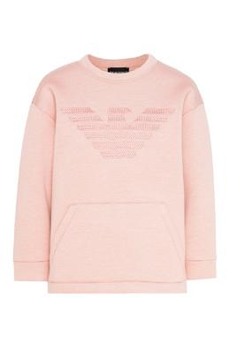 Розовый свитшот из модала Emporio Armani 2706183996