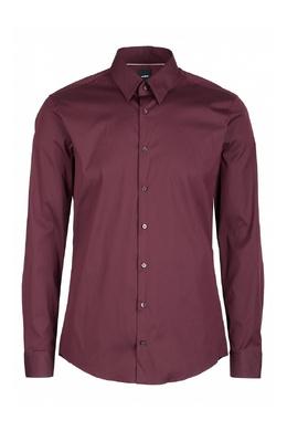 Бордовая рубашка приталенного кроя Strellson 585184822