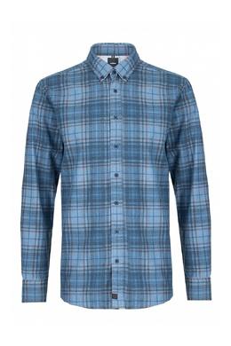 Синяя рубашка с узором в клетку Strellson 585184820