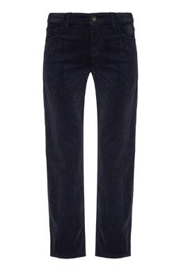 Темно-синие брюки из стретч-вельвета Emporio Armani 2706185029